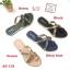 รองเท้าแตะแฟชั่น แบบสวม แต่งอะไหล่สวยหรู หนังนิ่ม ทรงสวย ใส่สบาย แมทสวยได้ทุกชุด (AT-115) thumbnail 1