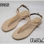 รองเท้าแตะแฟชั่น แบบหนีบ รัดส้น แต่งโซ่ ดีไซน์เปลือยเท้าสวยเก๋ไฮโซสไตล์ชาแนล หนังนิ่ม ทรงสวย ใส่สบาย แมทสวยได้ทุกชุด (FT-125) thumbnail 3