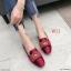 รองเท้าคัทชู ส้นแบน แต่งอะไหล่สวยหรูสไตล์แบรนด์ หนังนิ่ม ทรงสวย ใส่สบาย แมทสวยได้ทุกชุด (K5065) thumbnail 1