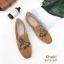 รองเท้าคัทชู ส้นแบน หนังสักหราดแต่งลายผึ้งปักสวยเรียบหรูสไตล์แบรนด์ หนังนิ่ม ทรงสวย ใส่สบาย แมทสวยได้ทุกชุด (2015-247) thumbnail 3