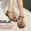 รองเท้าแตะแฟชั่น แบบหนีบ รัดส้น แต่งอะไหล่สวยหรูสไตล์ roger vivier หนังนิ่ม ทรงสวย ใส่สบาย แมทสวยได้ทุกชุด (J334) thumbnail 1