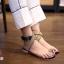 รองเท้าแตะแฟชั่น แบบสวมนิ้วโป้ง รัดข้อ แต่งอะไหล่คริสตัลสวยหรู สายไขว้พันข้อเก๋มาก หนังนิ่ม ทรงสวย ใส่สบาย แมทสวยได้ทุกชุด thumbnail 1