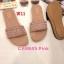 รองเท้าแตะแฟชั่น แบบสวม แต่งอะไหล่สวยเก๋ หนังนิ่ม ทรงสวย ใส่สบาย แมทสวยได้ทุกชุด (CA9845) thumbnail 1