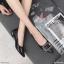 รองเท้าคัทชู ส้นเตี้ย แต่งอะไหล่เข็มขัดสวยหรู ส้นเหลี่ยมเก๋ หนังนิ่ม ทรงสวย สูงประมาณ 1.5 นิ้ว ใส่สบาย แมทสวยได้ทุกชุด (K9351) thumbnail 2