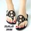 รองเท้าแตะแฟชั่น แบบหนีบ แต่งหน้า H สวยหรูสไตล์แอร์เมส หนังนิ่ม ทรงสวย ใส่สบายมาก แมทสวยได้ทุกชุด (FT-625) thumbnail 1