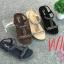 รองเท้าแตะแฟชั่น แบบสวม รัดส้น แต่งลูกปัดคลิสตับสวยหรู รัดส้นยางยืดนิ่ม หนังนิ่ม พื้นนิ่ม งานสวย ใส่สบาย แมทสวยได้ทุกชุด (318-20) thumbnail 1