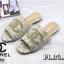 รองเท้าแตะแฟชั่น แบบสวม บุผ้าลายทวิสแต่ง CC สวยเก๋ไฮโซสไตล์ชาแนล หนังนิ่ม ทรงสวย ใส่สบาย แมทสวยได้ทุกชุด (FT632) thumbnail 1