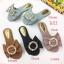 รองเท้าแตะแฟชั่น แบบสวม แต่งโบว์อะไหล่มุกสวยหรู หนังนิ่ม ทรงสวย ใส่สบาย แมทสวยได้ทุกชุด (C-993) thumbnail 1