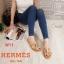 รองเท้าแตะแฟชั่น แบบสวม คาดหน้า H หนังลายหนังงูแต่งอะไหล่สไตล์แอร์เมสสวยหรู ใส่สบาย แมทสวยได้ทุกชุด (J341) thumbnail 3