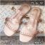 รองเท้าแตะแฟชั่น แบบสวม แต่งหนังเส้นลายฉลุสวยเก๋สไตล์แอร์เมส หนังนิ่ม ทรงสวย ใส่สบาย แมทสวยได้ทุกชุด (MR27) thumbnail 1