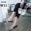 รองเท้าแตะแฟชั่น แบบสวม แต่งลายสไตล์กุชชี่สวยเก๋ไฮโซ หนังนิ่ม ทรงสวย ใส่สบาย แมทสวยได้ทุกชุด (D-18) thumbnail 2
