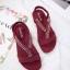 รองเท้าแฟชั่น ส้นเตารีด แบบหนีบ แต่งอะไหล่คริสตัลสวยหรู หนังนิ่ม ทรงสวย สูงประมาณ 3 นิ้ว ใส่สบาย แมทสวยได้ทุกชุด (18-2308) thumbnail 3