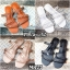 รองเท้า แตะแฟชั่น แบบสวม แต่งหนังเส้นลายฉลุสวยเก๋สไตล์แอร์เมส หนังนิ่ม ทรงสวย ใส่สบาย แมทสวยได้ทุกชุด (MR27) thumbnail 4