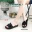 รองเท้าแตะแฟชั่น แบบสวม แต่งช่อดอกไม้สวยหรู หนังนิ่ม พื้นนิ่ม ทรงสวย ใส่สบาย แมทสวยได้ทุกชุด (PU6171) thumbnail 1