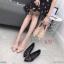 รองเท้าคัทชู ส้นเตี้ย แต่งอะไหล่เข็มขัดสวยหรู ส้นเหลี่ยมเก๋ หนังนิ่ม ทรงสวย สูงประมาณ 1.5 นิ้ว ใส่สบาย แมทสวยได้ทุกชุด (K9351) thumbnail 4