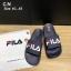 รองเท้าแตะแฟชั่น แบบสวม แต่งลายสไตล์ Fila สวยเก๋ วัสดูอย่างดี หนังนิ่ม พื้นยางนิ่มยืดหยุ่น ทรงสวย ใส่สบาย แมทสวยได้ทุกชุด thumbnail 1