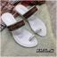 รองเท้าแตะแฟชั่น แบบสวมนิ้วโป้ง แต่งอะไหล่สไตล์กุชชี่สวยเก๋ หนังนิ่ม พื้นนิ่ม ทรงสวย ใส่สบาย แมทสวยได้ทุกชุด thumbnail 2