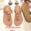 รองเท้าแตะแฟชั่น แบบหนีบ แต่งอะไหล่สวยหรู พื้นนิ่ม ใส่สบาย แมทสวยได้ทุกชุด (CA9346) thumbnail 1