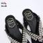 รองเท้าแตะแฟชั่น แบบหนีบ แต่งเพชรคริสตัลสวยหรูมาก สไตล์ roger vivier หนังนิ่ม ทรงสวย ใส่สบาย แมทสวยได้ทุกชุด thumbnail 6