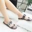 รองเท้าแตะแฟชั่น แบบสวม แต่งอะไหล่คริสตัลสวยหรู สไตล์ roger หนังนิ่ม ทรงสวย ใส่สบาย แมทสวยได้ทุกชุด thumbnail 1