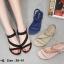 รองเท้าแตะแฟชั่น รัดส้น แบบสวม แต่งอะไหล่คริสตัลสวยหรู หนังนิ่ม ทรงสวย รัดส้นยางยืดนิ่ม ใส่สบาย แมทสวยได้ทุกชุด (B8-6) thumbnail 5