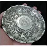 ถาดลาย12นักษัตรจีน ทองเหลืองชุบเงิน 10cm