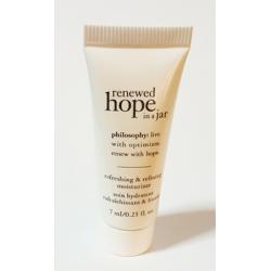 Philosophy renewed hope in a jar refreshing & refining moisturizer [7ml][์No Box] ครีมบำรุงผิวหน้าสูตรวิปปิ้งเนื้อบางเบา ให้ความชุ่มชื้นแก่ผิวอย่างต่อเนื่อง ให้ความรู้สึกสดชื่นสบายผิว รูขุมขนเล็กลง ผิวเรียบเนียน ไร้ริ้วรอย แลดูสุขภาพดี