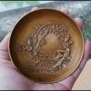ถาดทองเหลือง ศิลปะจีน ขนาดเล็ก