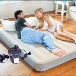 Intex ที่นอนเป่าลม รุ่น 64101 แถมสูบไฟฟ้า ดูรา-บีม ที่นอนเป่าลม ขนาด 3.5 ฟุต ขนาด 99 x 191 x 25 ซม. (3.5ฟุต)