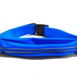 กระเป๋าคาดเอว 1 ซิป เกรด Premium ผ้าสัมผัสเนียนนุ่ม และกันน้ำ (สีน้ำเงิน)