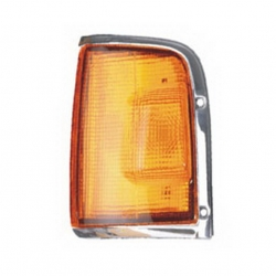 03-332 R/L Amber, Chrome Side Direction Indicator Lamp, Amber Lens, Chrome Housing