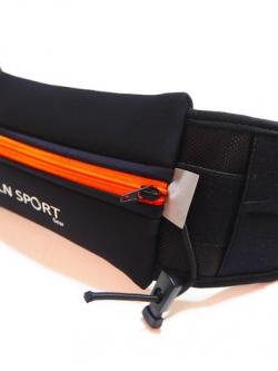 LN Sport กระเป๋าคาดเอวพร้อมช่องใส่ Energy Gel Running Belt (สีส้ม)