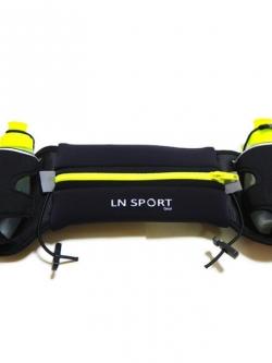 กระเป๋าคาดเอวพร้อมขวดน้ำ 2 ขวด (สีเขียว) Hydration Running Belt