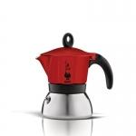 Bialetti หม้อต้ม กาแฟสด รุ่น Moka Induction ขนาด 3 cup (สีแดง)