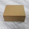 Snack Box กล่องสแน็ค 16 x 14 x 6.5 ซม. กล่องอาหารว่าง กล่องคอฟฟี่เบรค กล่องบราวนี่ กล่องชิฟฟ่อน แบบไม่มีหน้าต่าง สีคราฟท์น้ำตาล