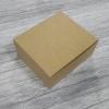 Snack Box กล่องสแน็ค 16 x 14 x 6.5 ซม. กล่องอาหารว่าง กล่องคอฟฟี่เบรค กล่องบราวนี่ กล่องชิฟฟ่อน แบบไม่มีหน้าต่าง สีคราฟท์น้ำตาลอ่อน