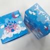 กล่องสแน็ค กล่องอาหารว่าง Snack Box กล่องคอฟฟี่เบรค กล่องคัพเค้ก แบบไม่มีหน้าต่าง สีฟ้าปราสาทน้ำตาลชมพู ขนาด 13.5 x 13.5 x 7.0 ซม.