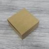 กล่องสแน็ค กล่องอาหารว่าง Snack Box กล่องคอฟฟี่เบรค กล่องคัพเค้ก แบบไม่มีหน้าต่าง สีคราฟท์น้ำตาลอ่อน ขนาด 13.5 x 13.5 x 7.0 ซม.