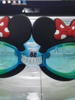แว่นตาว่ายน้ำเด็กลายมินนี่ ตัวสายสีฟ้า-เหลือง