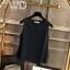Pre-order เสื้อทำงาน สีดำ คอกลมมีปก แขนกุด แต่งระบายชายเสื้อสองชั้น สวยหวานสุดๆ thumbnail 1