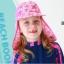 หมวกว่ายน้ำเด็ก หมวกเล่นทรายเด็ก มีผ้าคลุมปิดต้นคอ พร้อมเชือกผูกใต้คาง ลายดาว มีสีฟ้า /ชมพู thumbnail 4