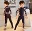 ชุดว่ายน้ำเด็ก bodysuit แขนยาว ขายาว ซิปหน้าลายดอกไม้ มีสีขาว / สีดำ thumbnail 5