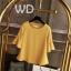 Pre-order เสื้อทำงาน สีเหลืองขมิ้น คอกลมแขนระบาย งานน่ารักเรียบร้อย มีไซส์ใหญ่ S - 6XL thumbnail 14