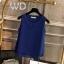 Pre-order เสื้อทำงาน สีน้ำเงินกรมท่า คอกลมมีปก แขนกุด แต่งระบายชายเสื้อสองชั้น สวยหวานสุดๆ thumbnail 1