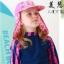 หมวกว่ายน้ำเด็ก หมวกเล่นทรายเด็ก มีผ้าคลุมปิดต้นคอ พร้อมเชือกผูกใต้คาง ลายดาว มีสีฟ้า /ชมพู thumbnail 3