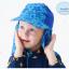 หมวกว่ายน้ำเด็ก หมวกเล่นทรายเด็ก มีผ้าคลุมปิดต้นคอ พร้อมเชือกผูกใต้คาง ลายดาว มีสีฟ้า /ชมพู thumbnail 1