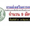 ประกาศสอบ กรมส่งเสริมการเกษตร เปิดรับสมัครสอบพนักงานราชการ 9 อัตรา วันที่ 19 - 25 มิถุนายน 2561