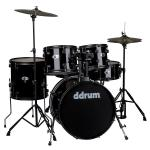D120 - MIDNIGHT BLACK - COMPLETE DRUM SET WITH CYMBALS