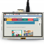 จอ LCD 5 นิ้ว 800x480 HDMI Touch Screen สำหรับ Raspberry Pi พร้อมปากกา stylus