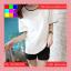 เสื้อแฟชั่น คอกลม แขนสั้น สีพื้น แต่งขอบดำ สีขาว thumbnail 1